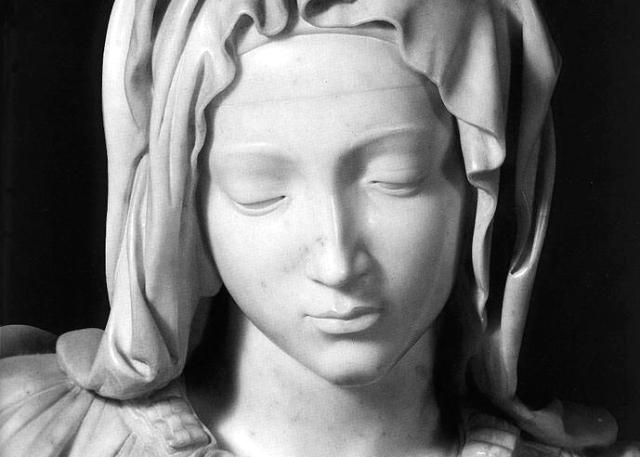 Citta_del_Vaticano_Pieta_di_ Michelangelo_il_volto