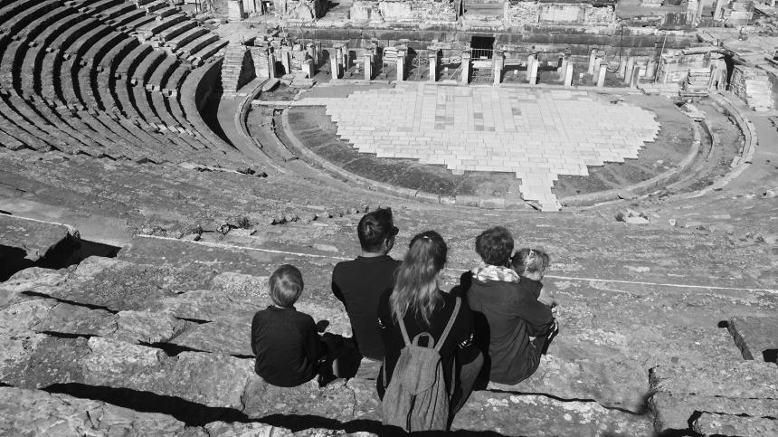 The amphitheater in Ephesus