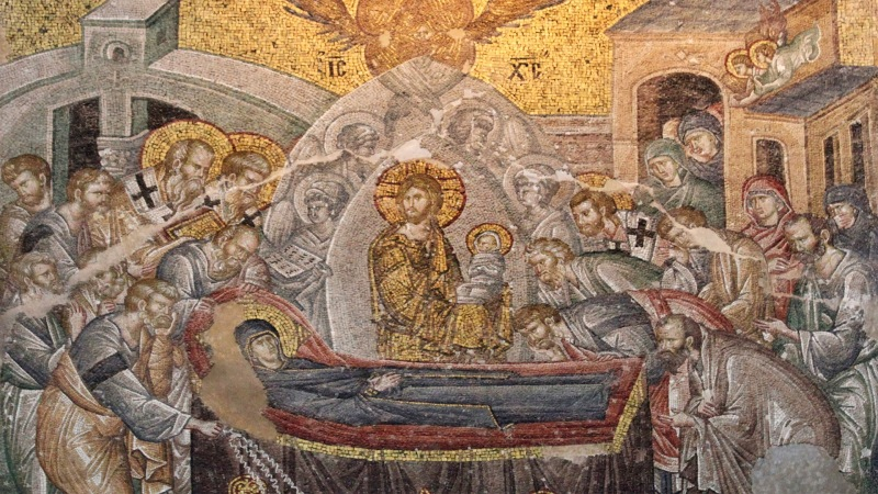 Dormition of the Virgin at Chora church in Istanbul