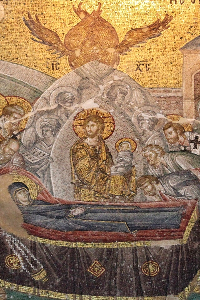 Detail of the Dormition of the Virgin in Chora church